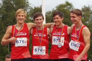 Bram, Steven, Jim en Luuk