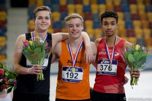 Timi van Schalkwijk 3e op NK Indoor Junioren 2018 op 60m Horden